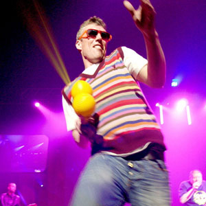 Bez was a dancer with the Happy Mondays and supports Man Utd. Hmm. Not a fan - but nice jumper, man.